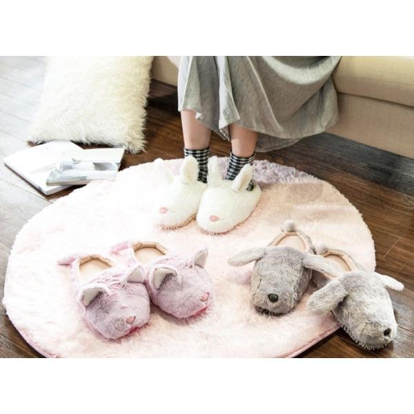 モップスリッパ 洗える  ふわふわモップスリッパ(イヌ) 足のサイズ約23〜26cmに対応|e-housemania|03