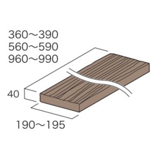 庭 敷石 ストーンステップ 飛石 踏石舗装アイテム 敷材 コンクリート製 古枕木 日本 オンリースリーパー ベイブ360〜390(1枚単位)|e-housemania|02