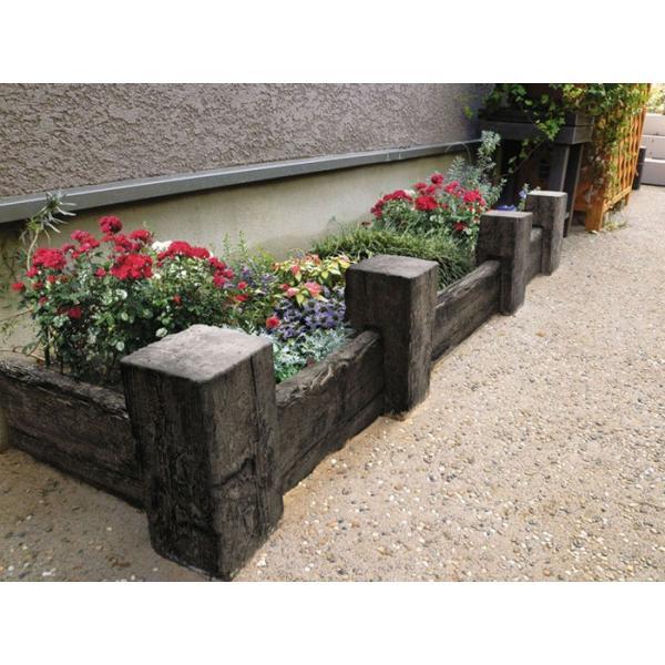 庭 敷石 ストーンステップ 飛石 踏石舗装アイテム 敷材 コンクリート製 古枕木 日本 オンリースリーパー ベイブ360〜390(1枚単位)|e-housemania|05