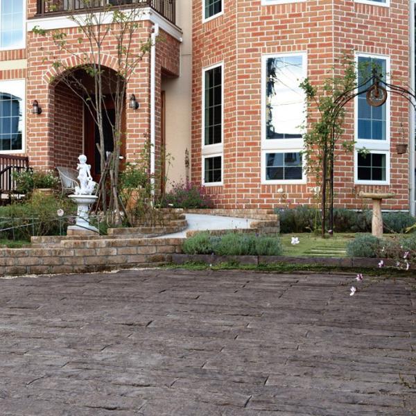 庭 敷石 ストーンステップ 飛石 踏石舗装アイテム 敷材 コンクリート製 古枕木 日本 オンリースリーパー ベイブ560〜590(1枚単位)|e-housemania|08