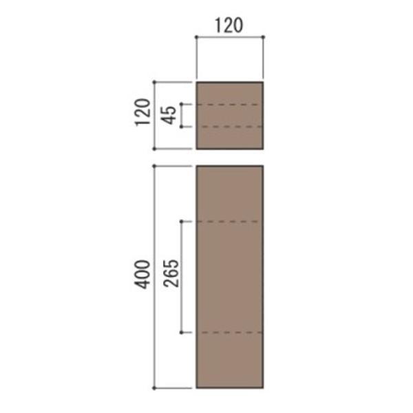 庭 花壇 仕切り 土留め ブロック 柱 コンクリート製 古枕木 日本 オンリースリーパー フィット中間用柱 1本体 ガーデニングdiy 屋外床 玄関 アプローチ|e-housemania|02