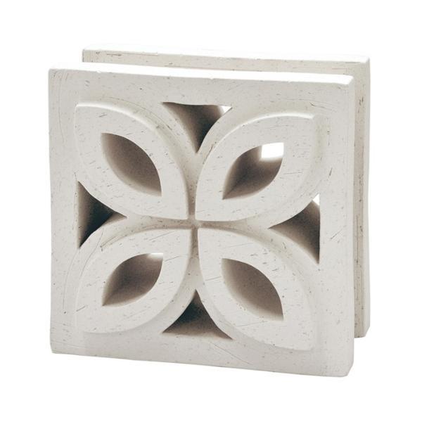 ブロック 塀 アプローチ エントランス せっき質無釉ブロック ポーラスブロック200 190Fタイプ 白土(配筋溝あり・4本角溝) 1個単位 屋外壁 diy|e-housemania