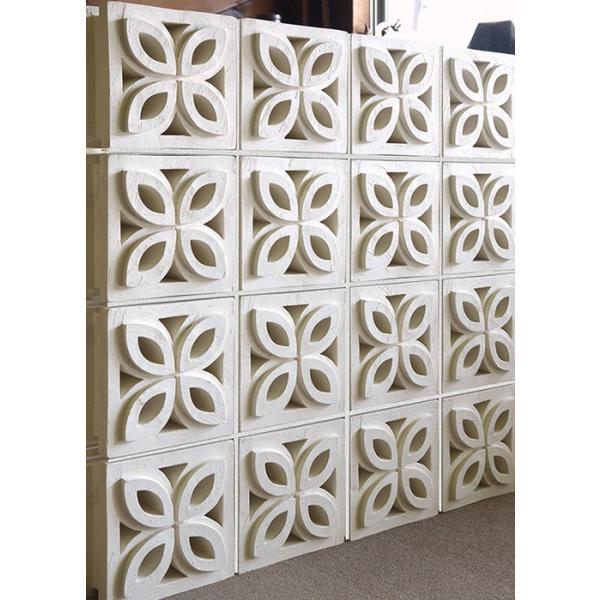 ブロック 塀 アプローチ エントランス せっき質無釉ブロック ポーラスブロック200 190Fタイプ 白土(配筋溝あり・4本角溝) 1個単位 屋外壁 diy|e-housemania|05