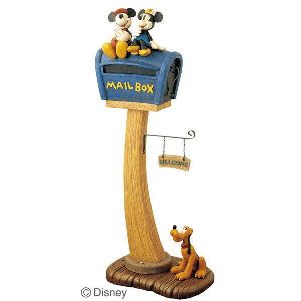 ポスト 郵便受け スタンドタイプ 郵便ポスト デザインポスト  ディズニーポスト ミッキーとミニーとプルート