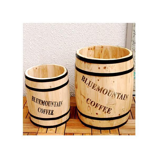 プランター 植木鉢 コーヒーバレル大小 2個組 CB-233040NS 天然木 珈琲樽 収納庫 樽 ゴミ箱 傘立て 代引き不可
