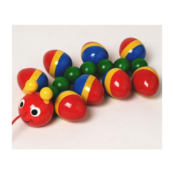 WALTERむかで 木のおもちゃ 赤ちゃん ベビー プルトーイ はいはい 玩具 ドイツ 出産 御祝 誕生日 プレゼント