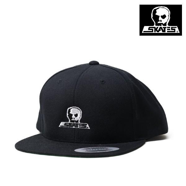 SKULL SKATES SNAPBACK CAP LOGO 刺繍 BLACK