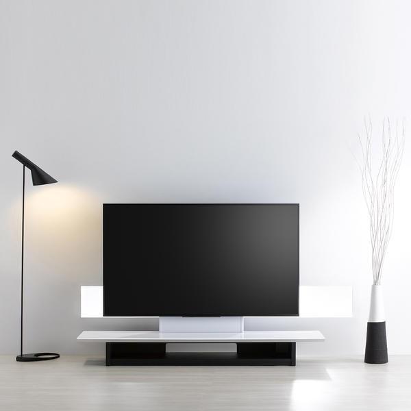 収納付き テレビ台 テレビ スタンド 壁寄せ 壁掛けテレビ台 おしゃれ ローボード幅 150cm 46-65V型 ホワイト 白 おすすめ|e-jimuyouhin