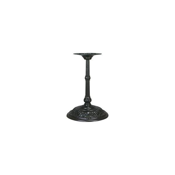 テーブル脚 アルミ鋳物 R-C-450 受座290φ 黒半艶塗装(屋外用) AJ付 高さ620mm※代引不可商品です