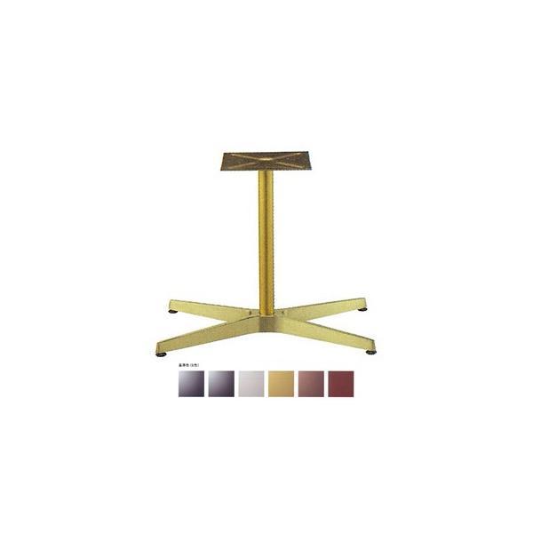 テーブル脚 AB3700 ベース600x370 パイプ42.7φ 受座240x240 アルミゴールド/塗装パイプ AJ付 高さ700mmまで※代引不可商品です