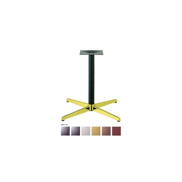 テーブル脚 コルサS2800 ベース570x570 パイプ60.5φ 受座240x240 ゴールド/塗装パイプ AJ付 高さ700mmまで※代引不可商品です