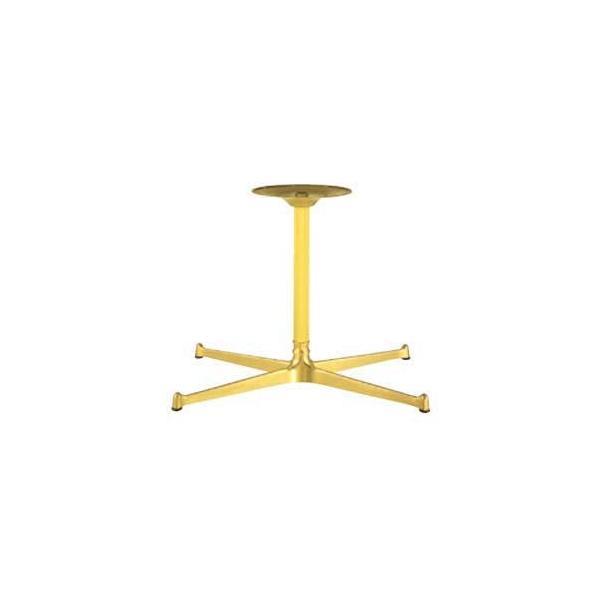 テーブル脚 FB3650 ベース565x335 パイプ45φ 受座280φ アルミゴールド AJ付 高さ700mmまで※代引不可商品です