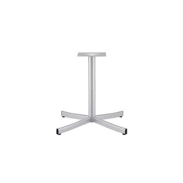 テーブル脚 ローズS2700 ベース495x495 パイプ60.5φ 受座240x240 I41(シルバー)紛体塗装 AJ付 高さ700mmまで※代引不可商品です