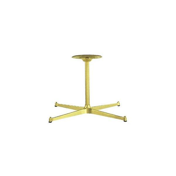 テーブル脚 SB3650 ベース565x335 パイプ38.1φ 受座280φ アルミゴールド/塗装パイプ AJ付 高さ700mmまで※代引不可商品です