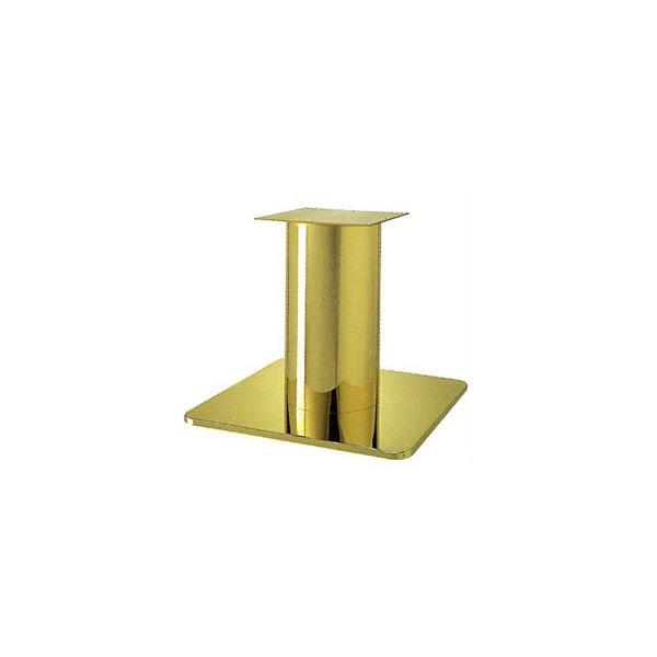 テーブル脚 スカイS7660 ベース660x660 パイプ280φ 受座350x350 ゴールドメッキ AJ付 高さ700mmまで※代引不可商品です