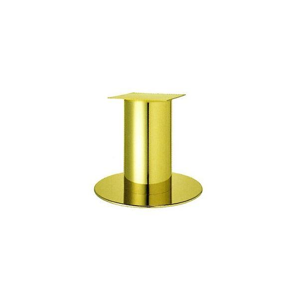 テーブル脚 ソフトS7620 ベース620φ パイプ280φ 受座350x350 ゴールドメッキ AJ付 高さ700mmまで※代引不可商品です