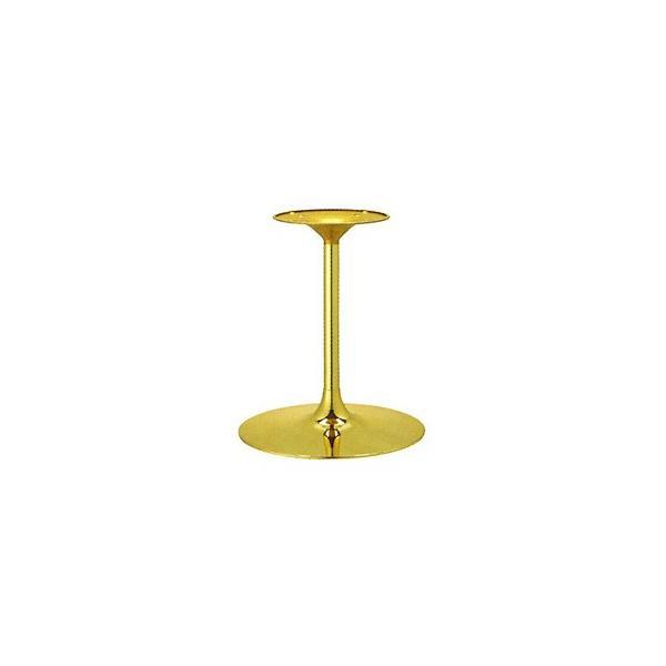 テーブル脚 YS7450 ベース450φ パイプ38.1φ 受座280φ ゴールドメッキ 高さ700mmまで※代引不可商品です