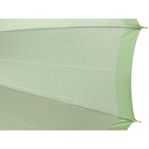 皇室御用達前原光榮商店/ボーダー柄レディース16本骨雨傘(ライトグリーン) 女