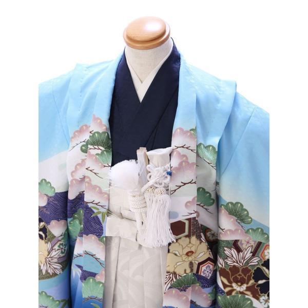 七五三 5歳 男の子 七五三 着物 5歳 753 男 着物 往復送料無料 フルセットレンタル 簡単着付けマニュアル付| 花うさぎブランド 着物(水色系)| E-5-016|e-kimono-rental|03