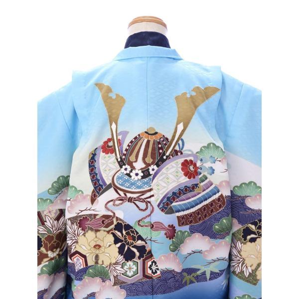 七五三 5歳 男の子 七五三 着物 5歳 753 男 着物 往復送料無料 フルセットレンタル 簡単着付けマニュアル付| 花うさぎブランド 着物(水色系)| E-5-016|e-kimono-rental|04