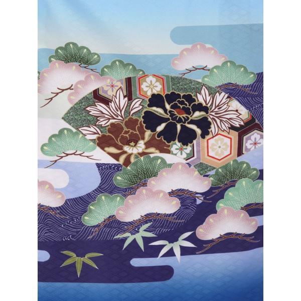 七五三 5歳 男の子 七五三 着物 5歳 753 男 着物 往復送料無料 フルセットレンタル 簡単着付けマニュアル付| 花うさぎブランド 着物(水色系)| E-5-016|e-kimono-rental|05