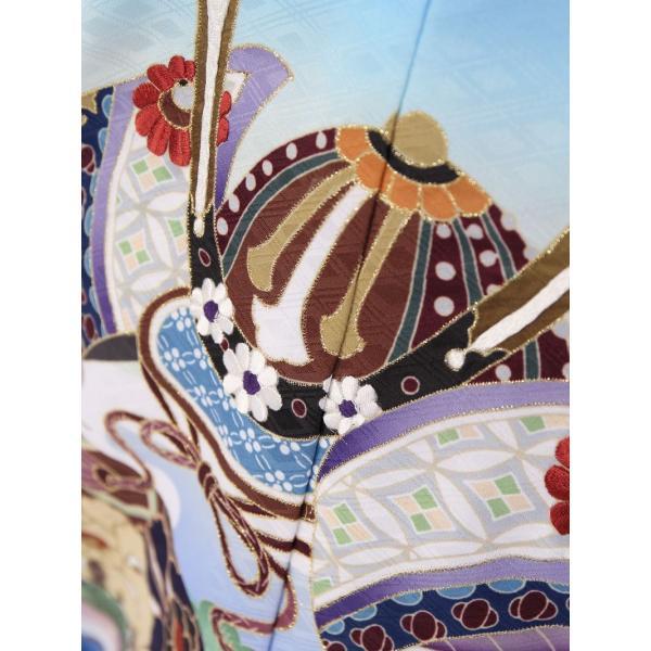 七五三 5歳 男の子 七五三 着物 5歳 753 男 着物 往復送料無料 フルセットレンタル 簡単着付けマニュアル付| 花うさぎブランド 着物(水色系)| E-5-016|e-kimono-rental|06