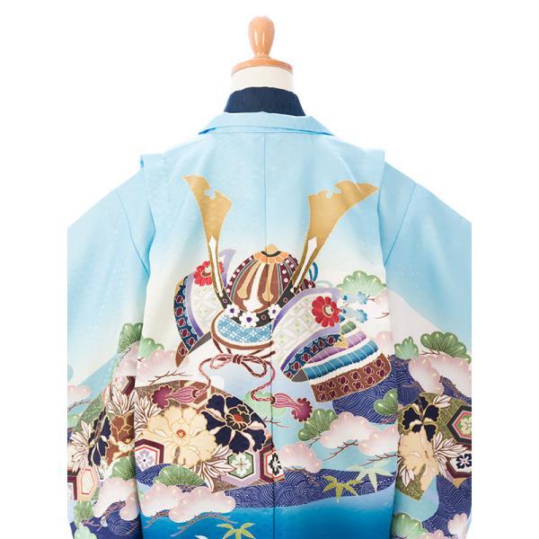 七五三 5歳 男の子 七五三 着物 5歳 753 男 着物 往復送料無料 フルセットレンタル 簡単着付けマニュアル付| 花うさぎブランド 着物(水色系)| E-5-016|e-kimono-rental|07