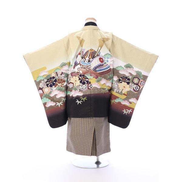 七五三 5歳 男の子 七五三 着物 5歳 753 男 着物 往復送料無料 フルセットレンタル 簡単着付けマニュアル付| 花うさぎブランド 着物(金茶系)| E-5-019|e-kimono-rental|02