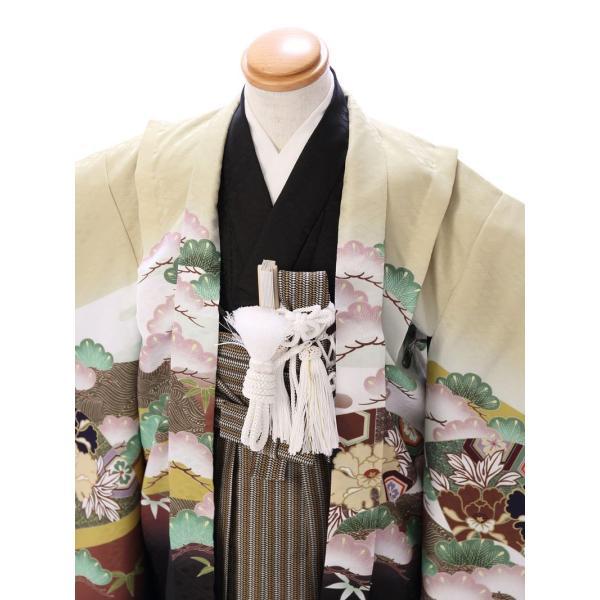 七五三 5歳 男の子 七五三 着物 5歳 753 男 着物 往復送料無料 フルセットレンタル 簡単着付けマニュアル付| 花うさぎブランド 着物(金茶系)| E-5-019|e-kimono-rental|03