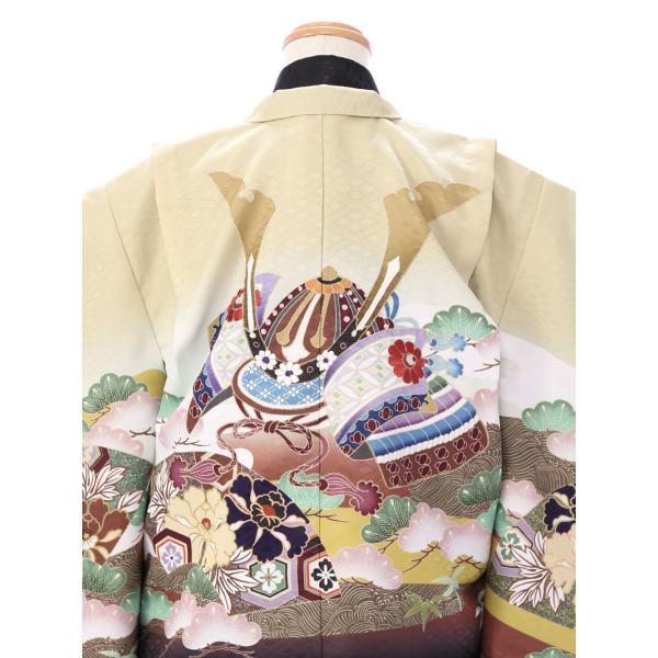 七五三 5歳 男の子 七五三 着物 5歳 753 男 着物 往復送料無料 フルセットレンタル 簡単着付けマニュアル付| 花うさぎブランド 着物(金茶系)| E-5-019|e-kimono-rental|04