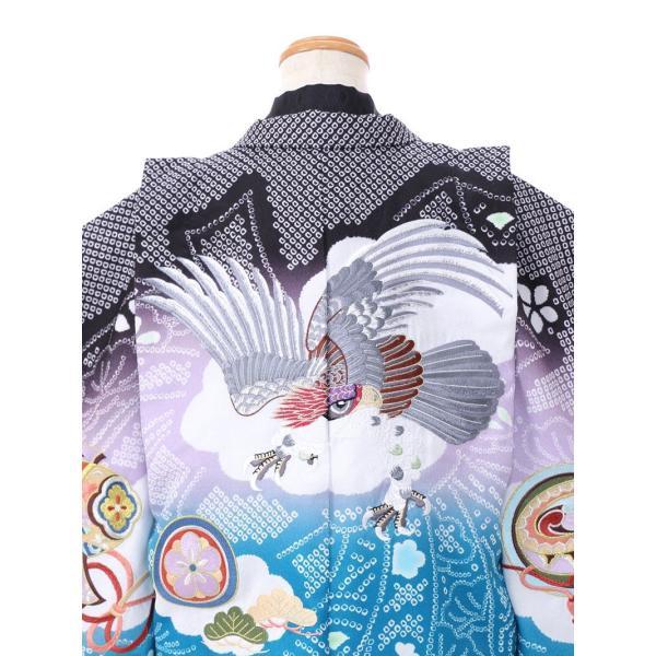 七五三 5歳 男の子 七五三 着物 5歳 753 男 着物 往復送料無料 フルセットレンタル 簡単着付けマニュアル付 ブランド陽気な天使(黒青系) E-5-036 e-kimono-rental 04