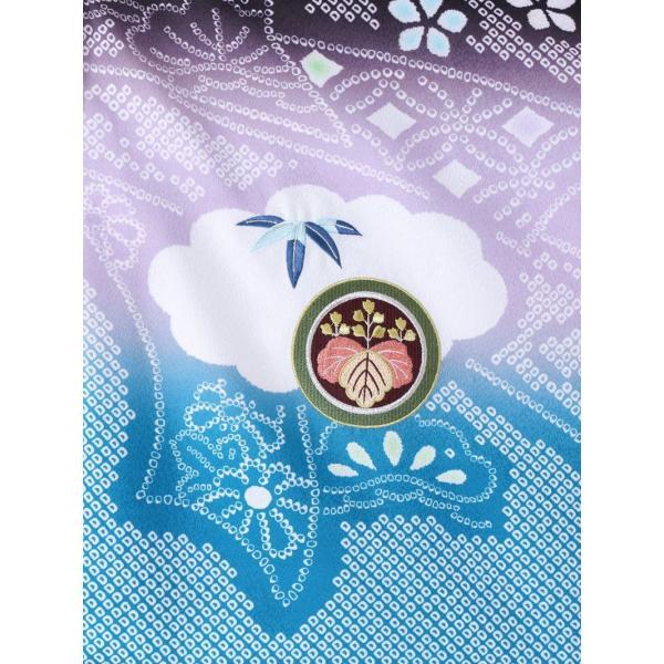 七五三 5歳 男の子 七五三 着物 5歳 753 男 着物 往復送料無料 フルセットレンタル 簡単着付けマニュアル付 ブランド陽気な天使(黒青系) E-5-036 e-kimono-rental 05