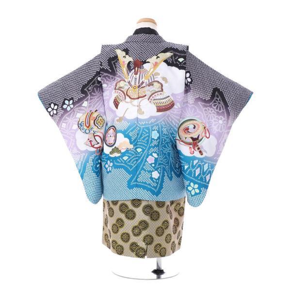 七五三 5歳 男の子 七五三 着物 5歳 753 男 着物 往復送料無料 フルセットレンタル 簡単着付けマニュアル付|ブランド陽気な天使(黒青系)|E-5-037|e-kimono-rental|02