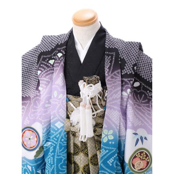 七五三 5歳 男の子 七五三 着物 5歳 753 男 着物 往復送料無料 フルセットレンタル 簡単着付けマニュアル付|ブランド陽気な天使(黒青系)|E-5-037|e-kimono-rental|03