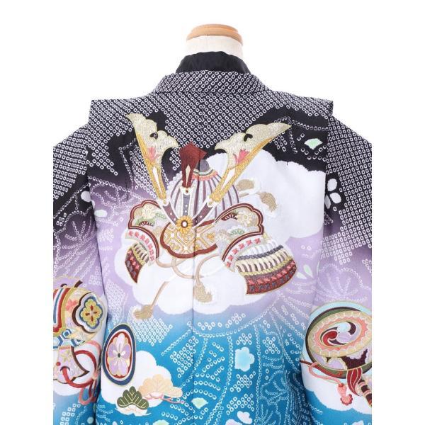 七五三 5歳 男の子 七五三 着物 5歳 753 男 着物 往復送料無料 フルセットレンタル 簡単着付けマニュアル付|ブランド陽気な天使(黒青系)|E-5-037|e-kimono-rental|04