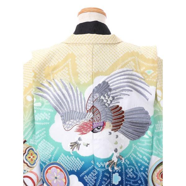 七五三 5歳 男の子 七五三 着物 5歳 753 男 着物 往復送料無料 フルセットレンタル 簡単着付けマニュアル付 ブランド陽気な天使(青緑系) E-5-040 e-kimono-rental 04
