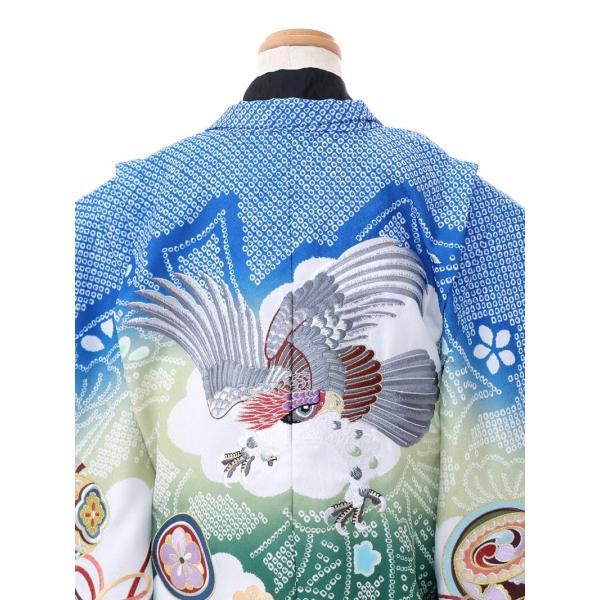 七五三 5歳 男の子 七五三 着物 5歳 753 男 着物 往復送料無料 フルセットレンタル 簡単着付けマニュアル付|陽気な天使(青緑ベージュ系)|E-5-042|e-kimono-rental|04