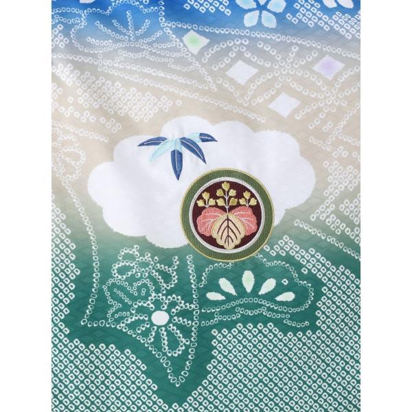 七五三 5歳 男の子 七五三 着物 5歳 753 男 着物 往復送料無料 フルセットレンタル 簡単着付けマニュアル付|陽気な天使(青緑ベージュ系)|E-5-042|e-kimono-rental|05