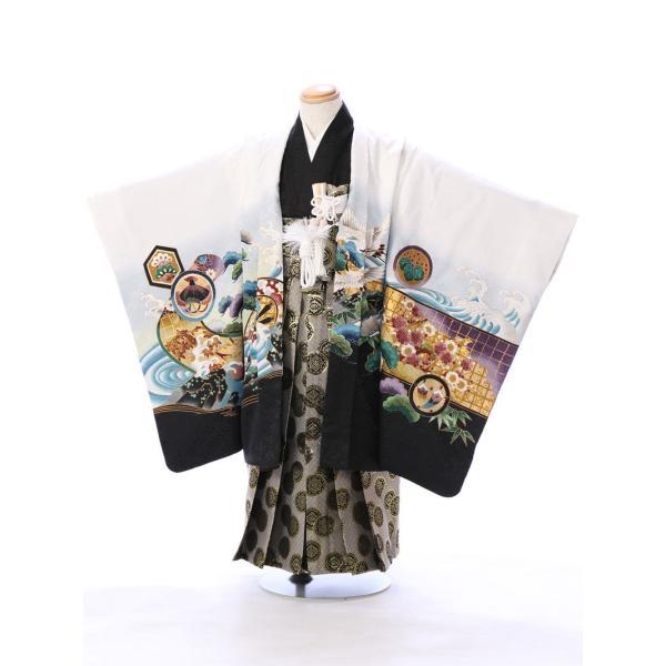 七五三 5歳 男の子 七五三 着物 5歳 753 男 着物 往復送料無料 フルセットレンタル 簡単着付けマニュアル付| E-5-924       貸衣装   袴|e-kimono-rental