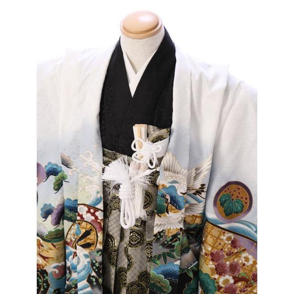 七五三 5歳 男の子 七五三 着物 5歳 753 男 着物 往復送料無料 フルセットレンタル 簡単着付けマニュアル付| E-5-924       貸衣装   袴|e-kimono-rental|02
