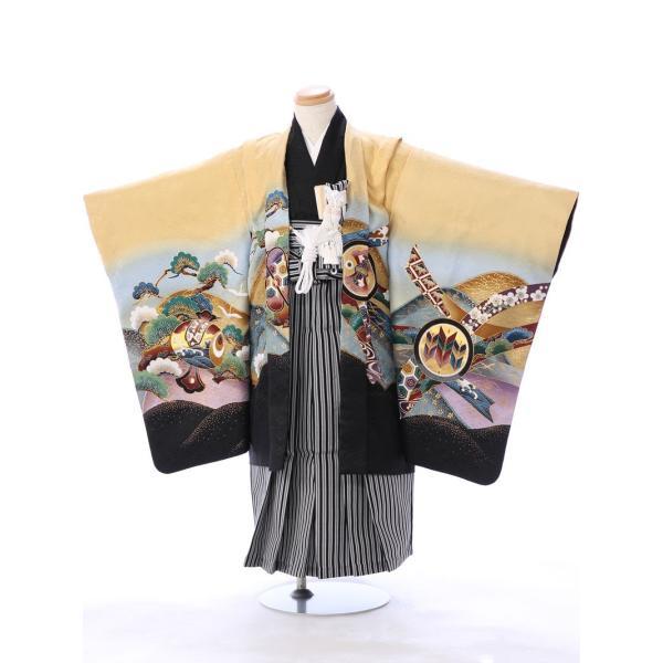 七五三 5歳 男の子 七五三 着物 5歳 753 男 着物 往復送料無料 フルセットレンタル 簡単着付けマニュアル付| E-5-927       貸衣装   袴|e-kimono-rental
