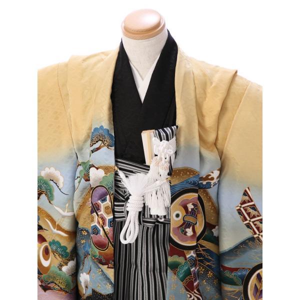 七五三 5歳 男の子 七五三 着物 5歳 753 男 着物 往復送料無料 フルセットレンタル 簡単着付けマニュアル付| E-5-927       貸衣装   袴|e-kimono-rental|02