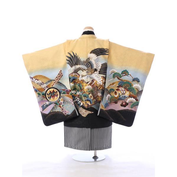 七五三 5歳 男の子 七五三 着物 5歳 753 男 着物 往復送料無料 フルセットレンタル 簡単着付けマニュアル付| E-5-927       貸衣装   袴|e-kimono-rental|03