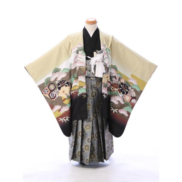 七五三 5歳 男の子 七五三 着物 5歳 753 男 着物 往復送料無料 フルセットレンタル 簡単着付けマニュアル付  E-5-962      貸衣装   袴 e-kimono-rental