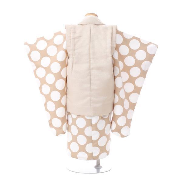 七五三 着物 3歳 753 着物 3歳 七五三 3歳 七五三 着物 753 着物レンタル|ドット柄の被布(ベージュ系)(白系)|男の子(三歳・被布)E-H-019 【レンタル】|e-kimono-rental|02