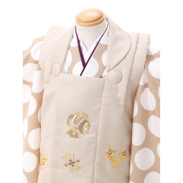 七五三 着物 3歳 753 着物 3歳 七五三 3歳 七五三 着物 753 着物レンタル|ドット柄の被布(ベージュ系)(白系)|男の子(三歳・被布)E-H-019 【レンタル】|e-kimono-rental|03