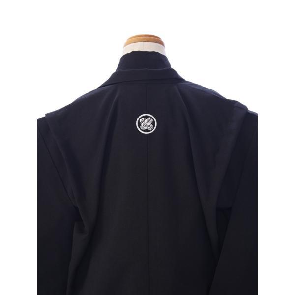 七五三 5歳 男の子 七五三 着物 5歳 753 男 着物 往復送料無料 フルセットレンタル 簡単着付けマニュアル付| K5-010 黒紋 小さいサイズ      貸衣装   袴|e-kimono-rental|04