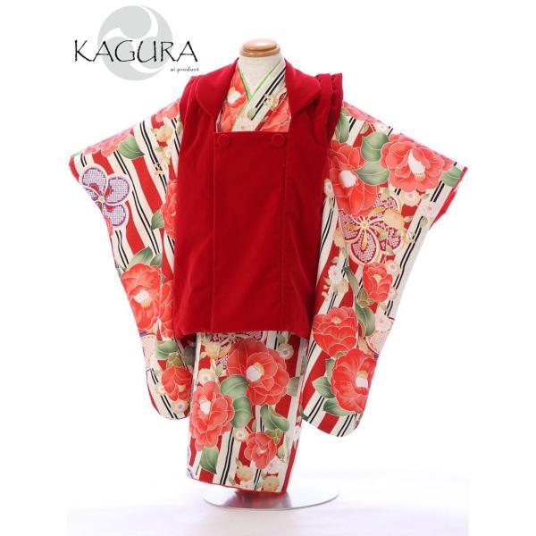 七五三 着物 3歳 753 着物 3歳 七五三 3歳 七五三 着物 753 着物   E-H-376 式部浪漫KAGURA  着物   被布     女の子    【レンタル】 e-kimono-rental