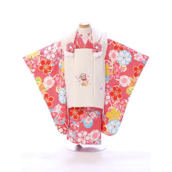 七五三 着物 3歳 753 着物 3歳 七五三 3歳 七五三 着物 753 着物|  E-H-442  着物   被布     女の子    被布セット 【レンタル】|e-kimono-rental