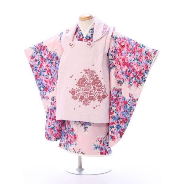 七五三 着物 3歳 753 着物 3歳 七五三 3歳 七五三 着物 753 着物 JILL STUART 女の子(被布)フルセット(ピンク系) 女の子(三歳)【レンタル】E-H-493 e-kimono-rental